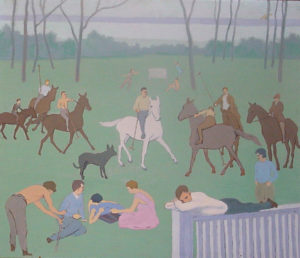 A Day at the Farm, painting by Alice L. L. Ferguson
